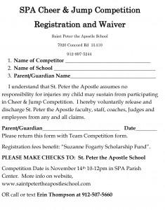 SPA Cheer  Jump Registration