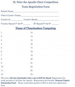 SPA Cheer Squad Registration